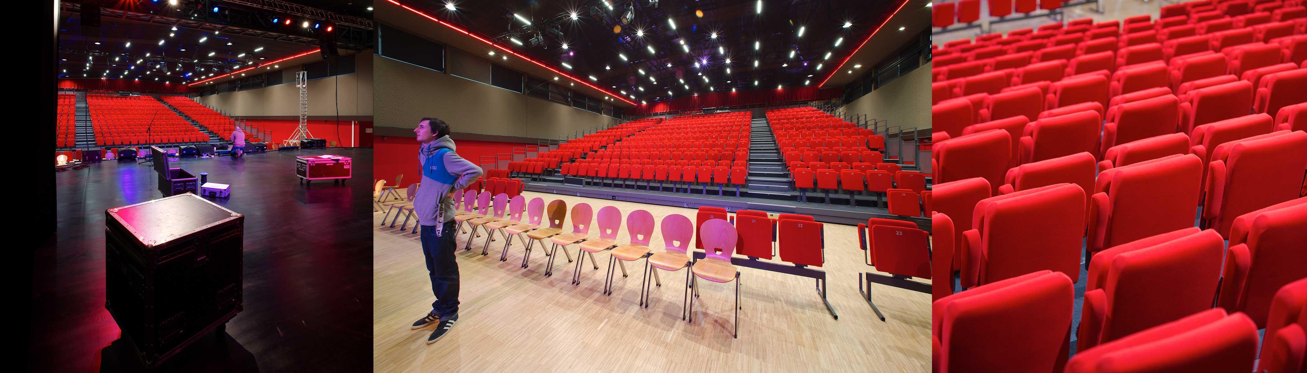 Salle de spectacle triptique