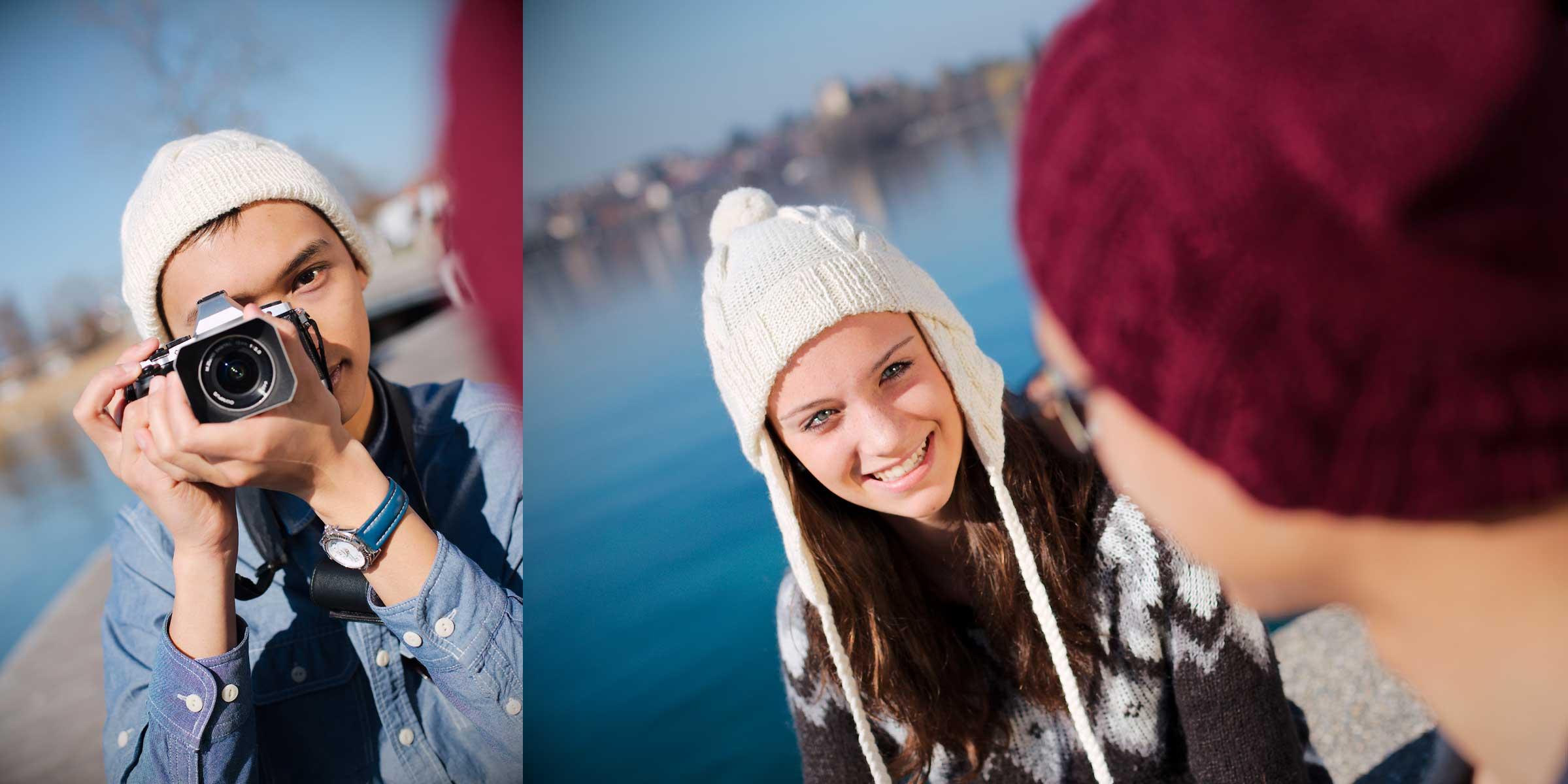 Lifestyle portrait jeunes femme mode