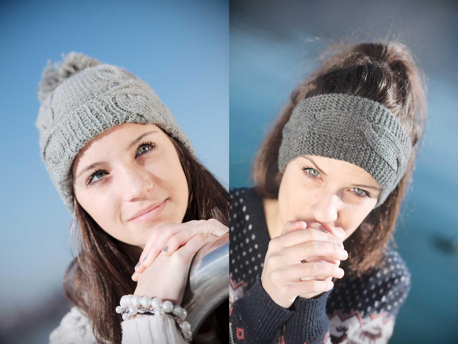 Portrait de femme hiver