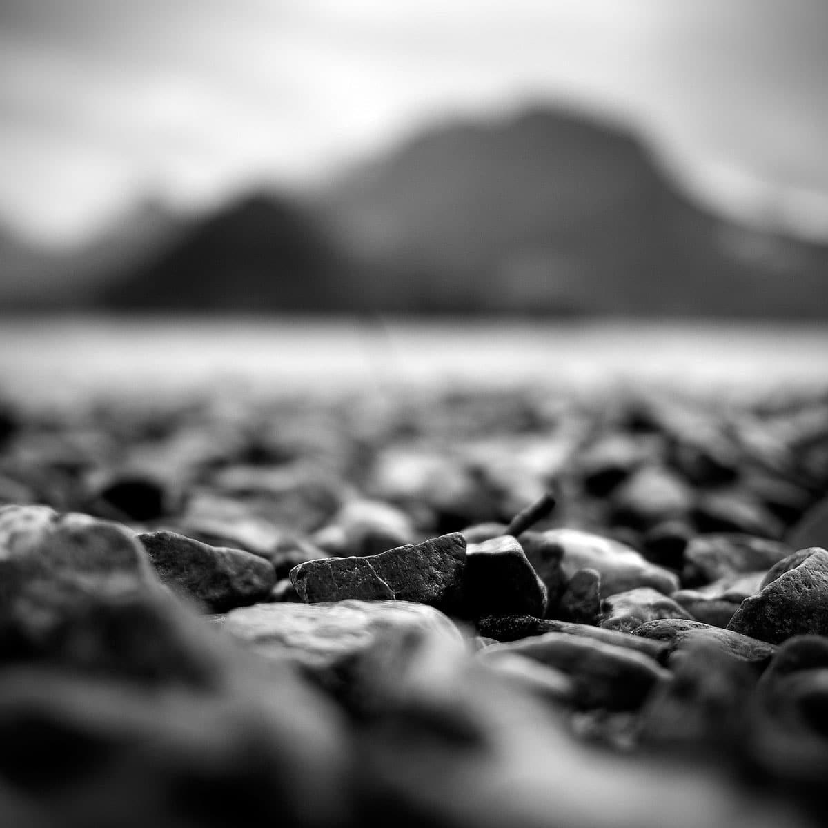 Lac d'Annecy en Noir et blanc