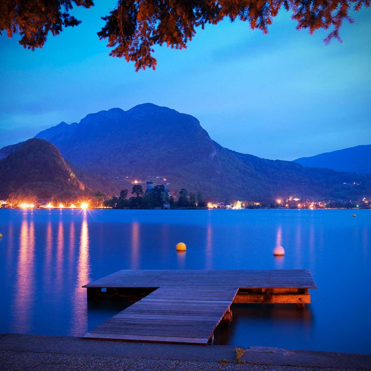 Lac d'Annecy le soir